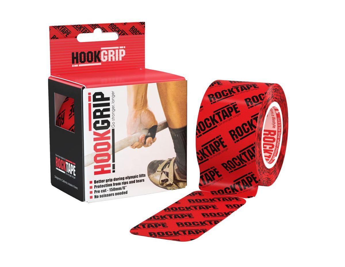 """Кинезиотейп Rocktape """"HookGrip"""", цвет: красный, черный, 5 х 500 см, 32 полосы"""