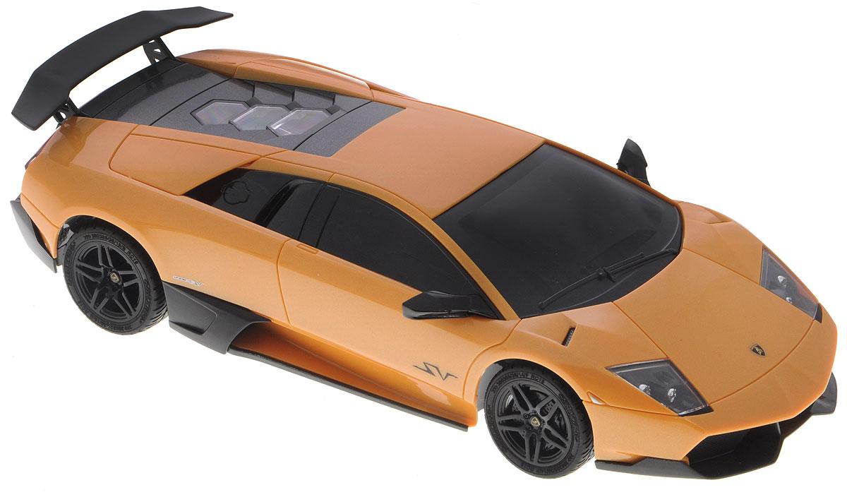 """Радиоуправляемая модель """"Lamborghini Murcielago LP670-4"""" является копией реального автомобиля в масштабе 1:18. Машина изготовлена из прочного легкого пластика с элементами из металла, колеса прорезинены. При помощи пульта управления автомобиль может перемещаться во всех направлениях. Встроенные амортизаторы обеспечивают комфортное движение. Имеются световые эффекты. Авто отличается потрясающей маневренностью и динамикой. Радиоуправляемые игрушки способствуют развитию координации движений, моторики и ловкости. Ваш ребенок часами будет играть с моделью, устраивая захватывающие гонки. Модель работает от 4 батареек напряжением 1,5V типа АА (не входят в комплект). Пульт управления работает от 2 батареек напряжением 1,5V типа АА (не входят в комплект)."""