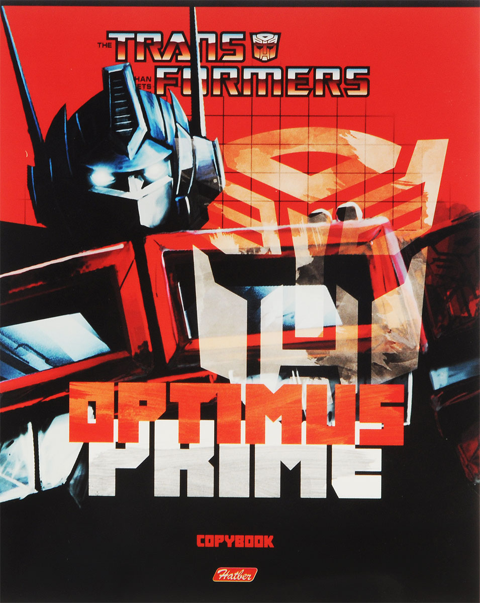 Hatber Тетрадь Трансформеры Optimus Prime 48 листов в клетку цвет черный красный jbl e55bt черный складная портативная гарнитура bluetooth гарнитура беспроводная стерео гарнитура музыка