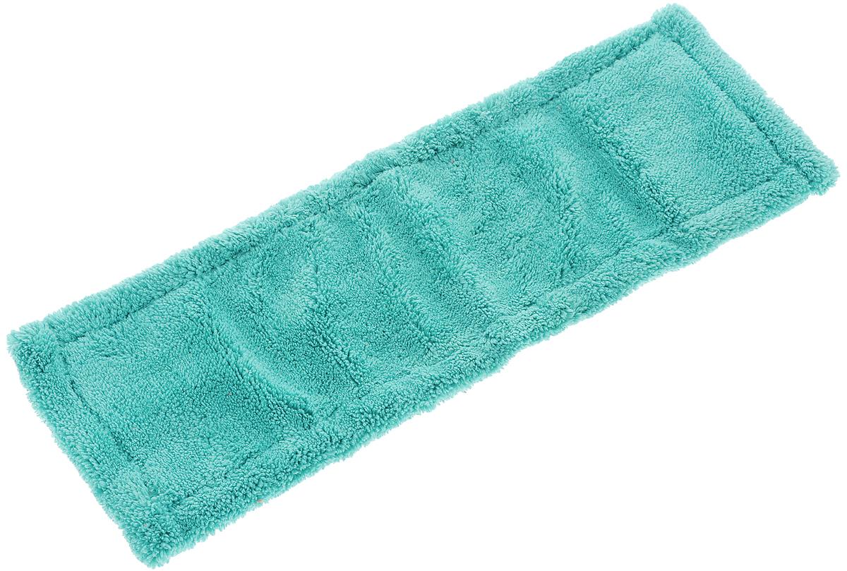 Насадка для швабры York Классик, сменная, цвет: бирюзовый. 8109CLP446Сменная насадка для швабры York Классик изготовлена из микрофибры (полиамид, полиэстер). Микрофибра обладает высокой износостойкостью, не царапает поверхности и отлично впитывает влагу. Насадка отлично удаляет большинство загрязнений. Насадка идеально подходит для мытья всех видов напольных покрытий. Она не оставляет разводов и ворсинок. Сменная насадка для швабры York Классик станет незаменимой в хозяйстве.Насадку можно стирать при температуре 40°С.Размер насадки: 40 х 14 х 1,5 см.