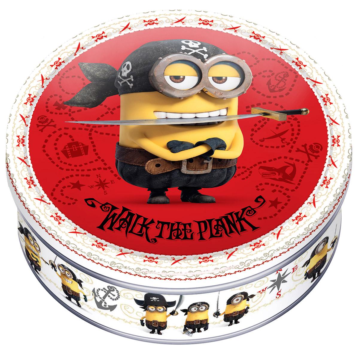 Minions печенье сдобное с кусочками шоколада, 150 г8076809500302Minions - 100% сдобное печенье в подарочной банке. В коллекции Minions 3 варианта дизайна подарочных банок, каждый из которых - отличный подарок ко Дню всех влюбленных или другой особой дате.
