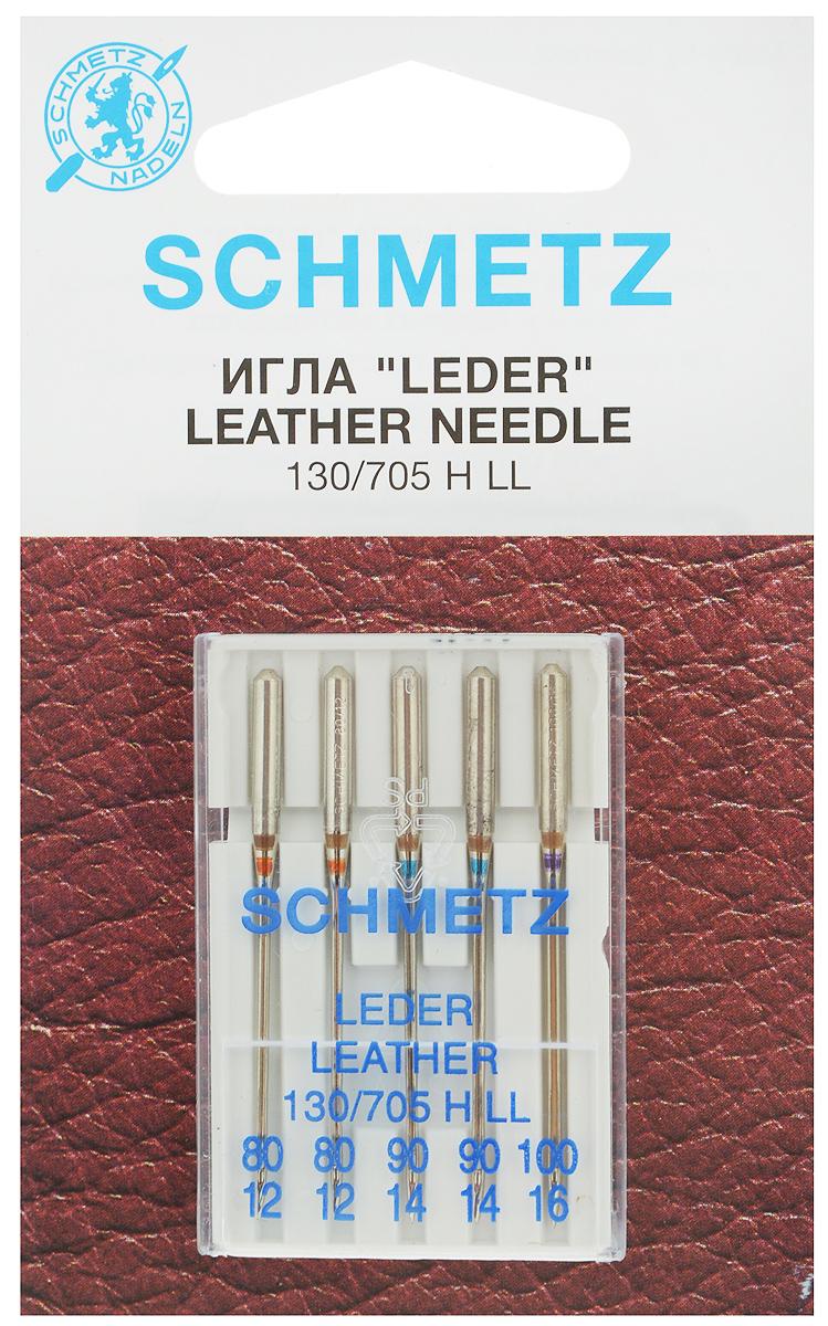 Набор игл для кожи Schmetz Leder, №80, 90, 100, 5 штKT-508-3 бело-фиолетовыйНабор Schmetz Leder состоит из пяти игл с режущим остриемдля бытовых швейных машин всех марок. Изделия предназначены для кожи, искусственной кожи и похожих материалов. Не рекомендуется применять для текстильных изделий.Комплектация: 5 шт. Размер игл: №80, 90, 100.Система игл: 130/705 H LL.
