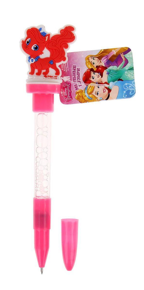 Disney Мыльные пузыри ручка с печатью и светом Королевские питомцы 10 мл + игрушка наклейки детские disney набор наклеек королевские питомцы
