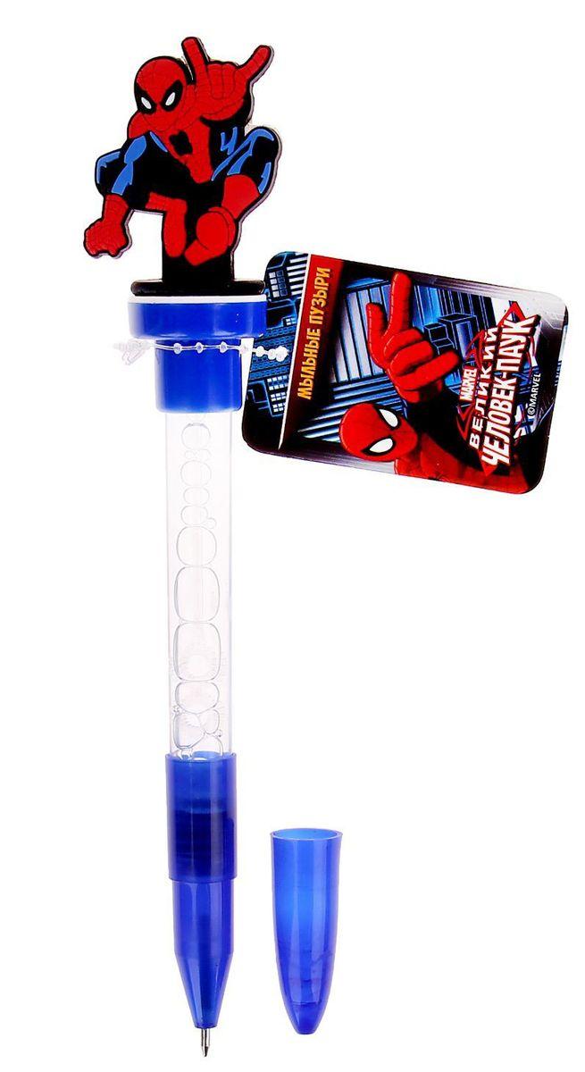 Marvel Мыльные пузыри ручка с печатью и светом Человек Паук 10 мл + игрушка