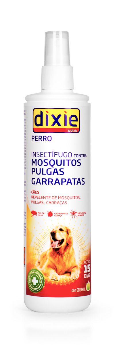 Спрей-репеллент для собак VEDA Dixie, от насекомых, 175 мл8421341106039Спрей-репеллент VEDA Dixie -это средство для профилактики и подавления атак комаров, блох, клещей, вшей и других внешних паразитов у собак. Действующее вещество гераниол - натуральное эфирное масло - мощный репеллент. Срок отпугивающего эффекта - 15 дней. При высокой степени зараженности среды обитания животного - обрабатывать чаще.Меры предосторожности: не применять для щенков в возрасте до 6 месяцев, больных или ослабленных животных.Состав: гераниол 1%, вода и вспомогательные компоненты до 100%.Товар сертифицирован.