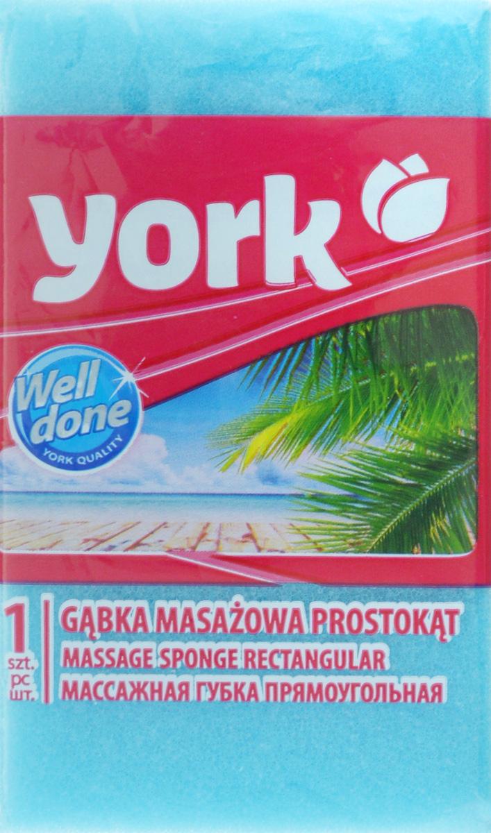Губка для тела York, массажная, цвет: голубой, белый, 13,5 х 7,5 х 4,2 смSC-FM20104Губка для тела York изготовлена из мягкого экологически чистого полимера. Пористая структура губки создает воздушную пену даже при небольшом количестве геля для душа. Эффективно очищает и массирует кожу, улучшая кровообращение и повышая тонус.