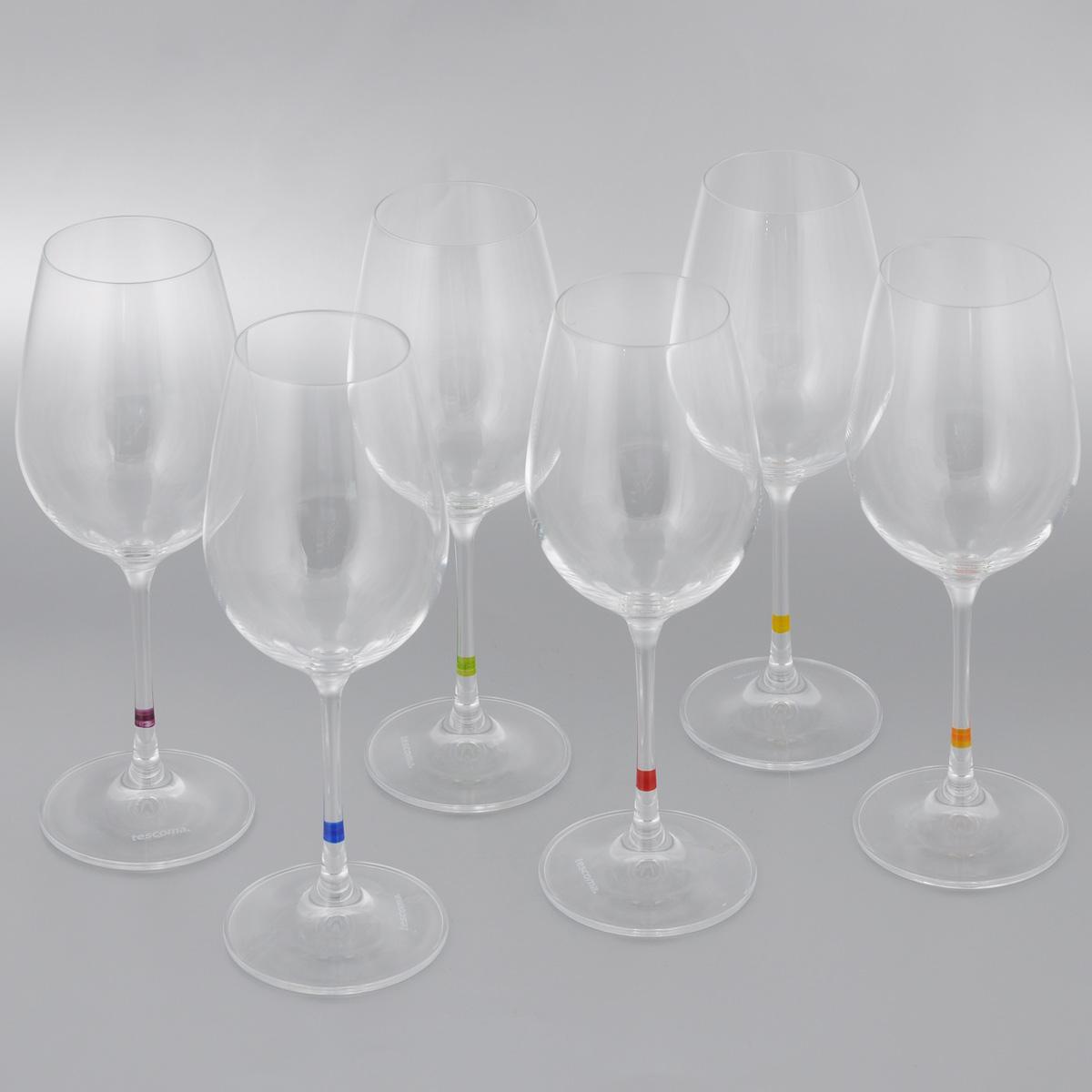 Набор бокалов для вина Tescoma Uno Vino, 350 мл, 6 шт695494Набор Tescoma Uno Vino, выполненный из прочного стекла, состоит из шести бокалов. Изделия предназначены для подачи вина. Они сочетают в себе элегантный дизайн и функциональность.Набор бокалов Tescoma Uno Vino прекрасно оформит праздничный стол и создаст приятную атмосферу за романтическим ужином.