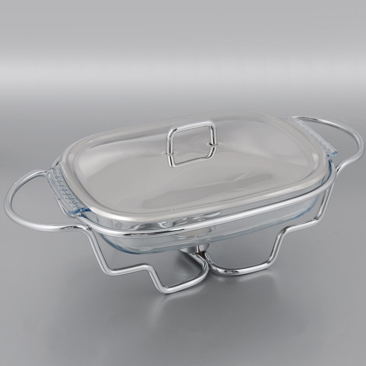 Мармит Mayer & Boch, со свечой, 1,5 л. 2088014901Мармит Mayer & Boch, изготовленный из стекла и нержавеющей стали, позволит вам довольно длительное время сохранять температуру блюда и создаст романтическую обстановку. Мармит предназначен для приготовления блюд в духовке и микроволновой печи. Благодаря красивому дизайну мармит можно сразу подавать на стол, не перекладывая блюдо на сервировочные тарелки. Его действие основано на принципе водяной бани. Под емкостью установлена 1 свеча (входит в комплект), которая, в свою очередь, нагревает продукты. Таким образом, данное кухонное приспособление - превосходный способ не дать блюду остыть. При этом пища не пригорает, не пересыхает, сохраняет все свои питательные и вкусовые качества. Стеклянное блюдо можно использовать в микроволновой печи и духовке. Можно мыть в посудомоечной машине и ставить в холодильник. Размер блюда (по верхнему краю): 25 х 18,5 см.Ширина мармита (с учетом ручек): 31 см.Высота мармита: 12 см.Диаметр свечи: 3,7 см.