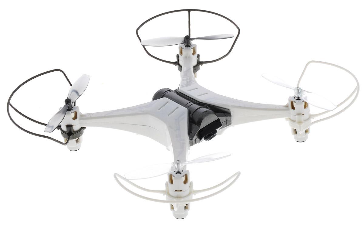 Silverlit Квадрокоптер на радиоуправлении Spy Drone II цвет белый серый роботы silverlit приручи динозавра белый