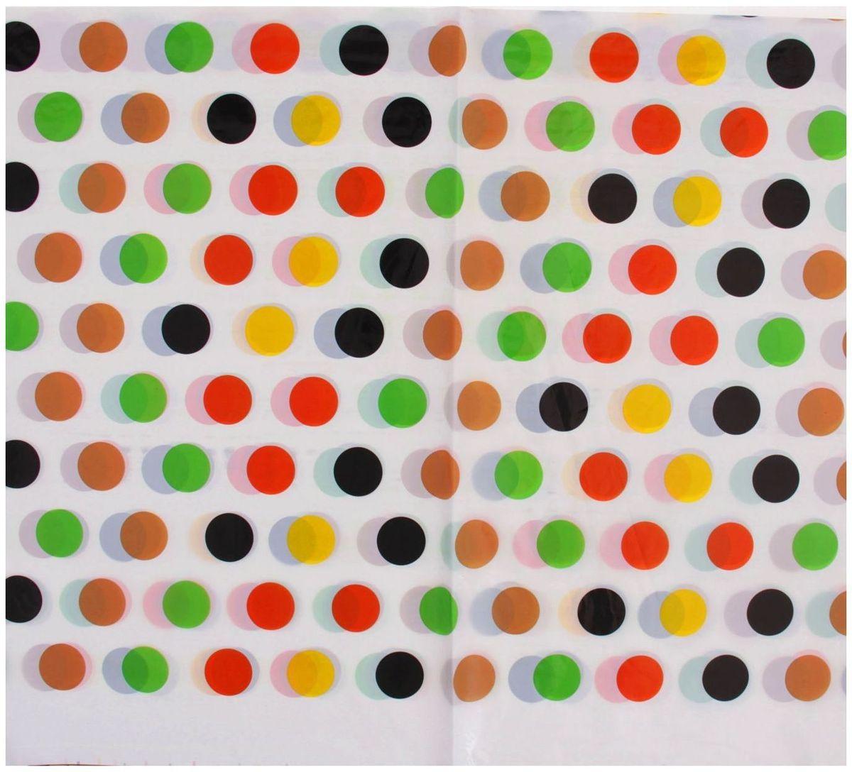 Страна Карнавалия Скатерть 108х180 Цветные горошки сервировка стола