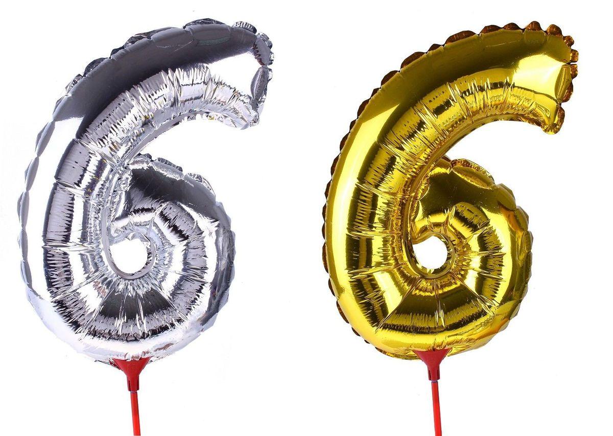 Sima-land Воздушный шарик 6 14 Трубочка 1 цвет в пакете МИКС
