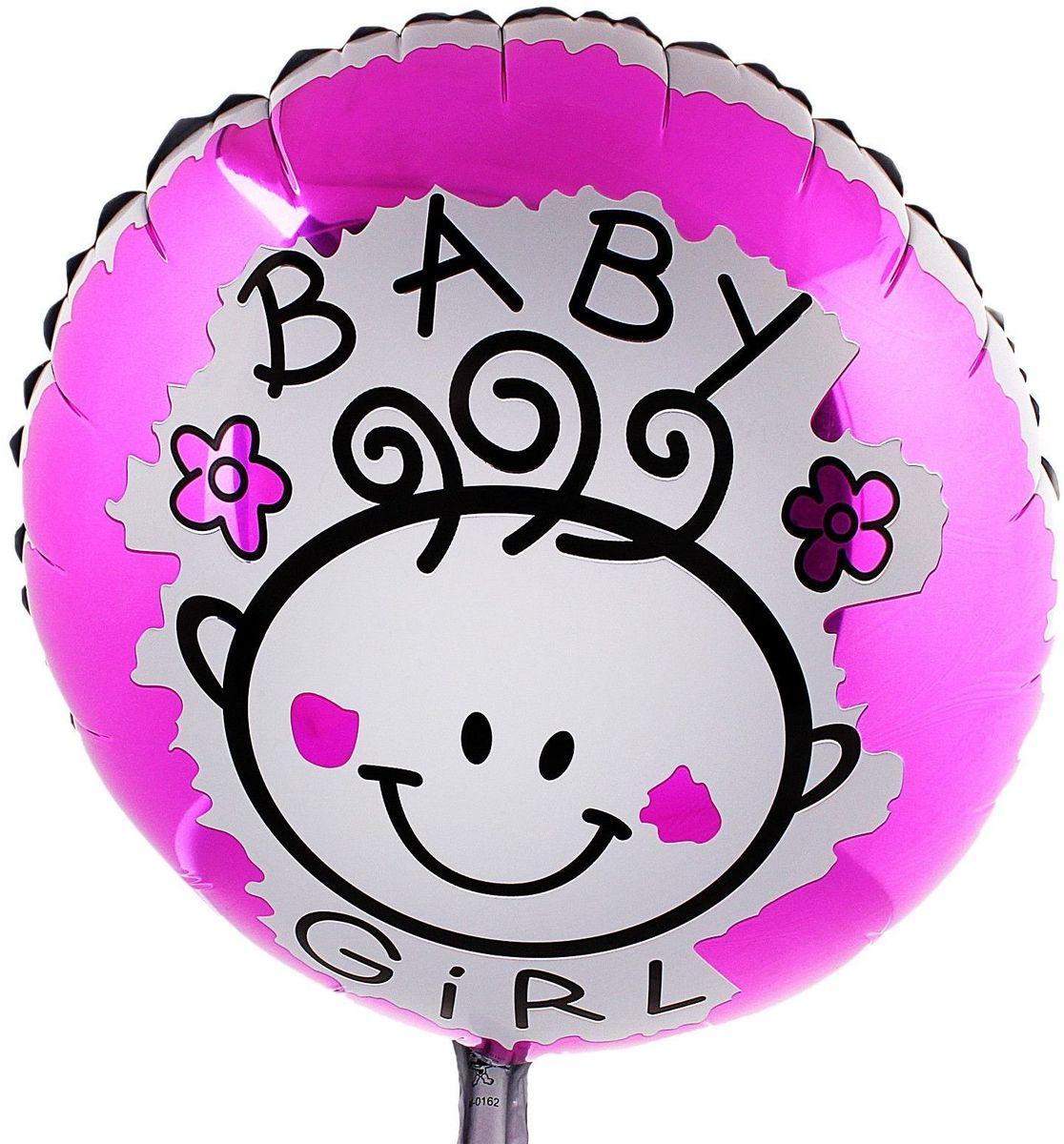 Sima-land Воздушный шарик Маленькая девочка Круг 18