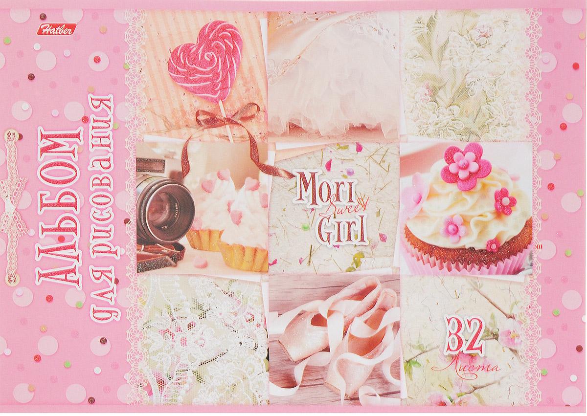 Hatber Альбом для рисования Sweet Mori Girl 32 листа 145522010440Альбом для рисования Hatber Sweet Mori Girl порадует маленькую художницу и вдохновит ее на творчество. Альбом изготовлен из белоснежной бумаги с яркой обложкой из плотного картона, оформленной милыми картинками и блестками.Внутренний блок альбома, соединенный двумя металлическими скрепками, состоит из 32 листов. Высокое качество бумаги позволяет рисовать в альбоме карандашами, фломастерами, акварельными и гуашевыми красками.