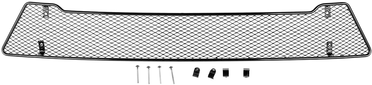 Сетка для защиты радиатора Novline-Autofamily, внешняя, для Lada Vesta (2015-)111.05813.1Сетка для защиты радиатора Novline-Autofamily изготовлена из антикоррозионного материала, что гарантирует отсутствие ржавчины в процессе эксплуатации. Изделие устанавливается на штатную решетку переднего бампера автомобиля, защищая таким образом радиатор от попадания камней, крупных насекомых, мелких птиц. Простая установка делает это изделие необыкновенно удобным. В отличие от универсальных сеток, для установки которых требуется снятие бампера, то есть наличие специализированных навыков и дополнительного оборудования (подъемник и так далее), для установки этой сетки понадобится 20 минут времени и отвертка. Данный продукт разработан индивидуально под каждый бампер автомобиля. Внешняя защитная сетка радиатора полностью повторяет геометрию решетки бампера и гармонично вписывается в общий стиль автомобиля.