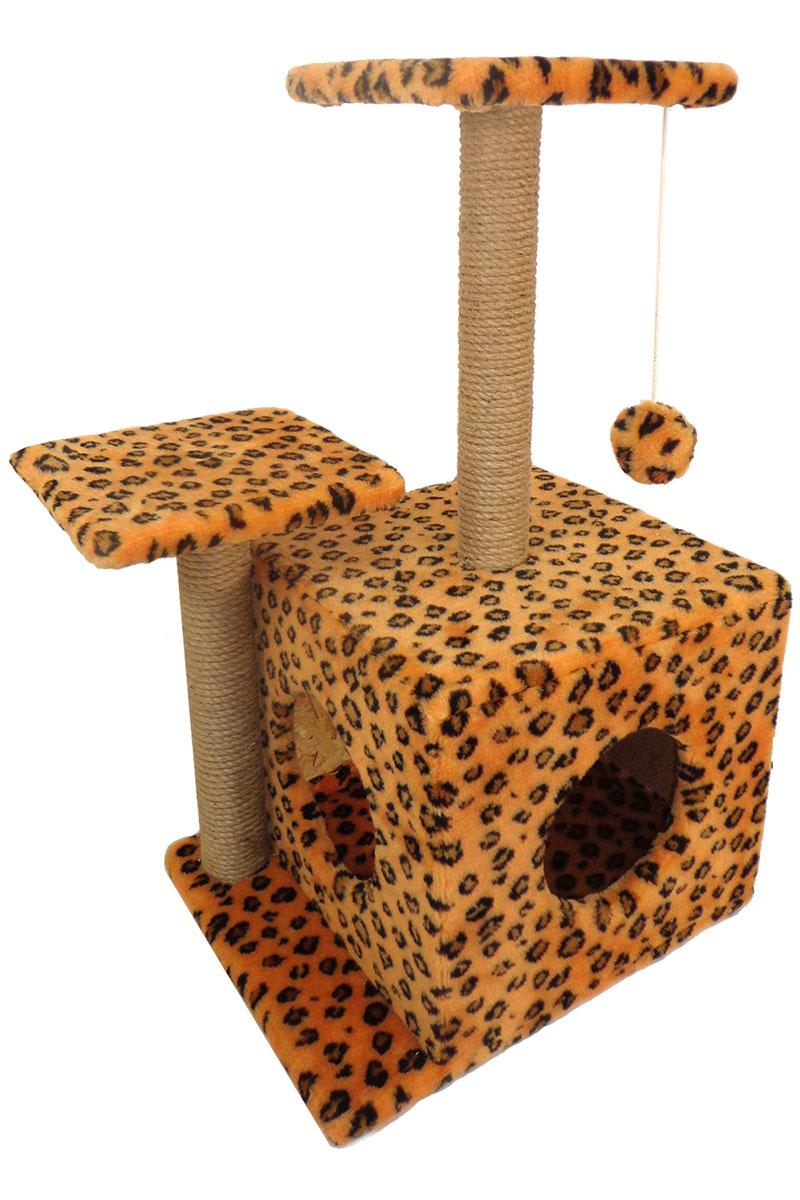 Игровой комплекс для животных Меридиан, квадратный, трехэтажный, с двумя окошкамиД131 ЛеИгровой комплекс для животных Меридиан выполнен из высококачественного ДВП и ДСП и обтянут искусственным мехом. Комплекс имеет 3 яруса. Ваш домашний питомец будет с удовольствием точить когти о специальные столбики, обтянутые джутом, а отдохнуть он сможет на полках или в домике. На одной из полок расположена игрушка, которая еще сильнее привлечет внимание питомца.