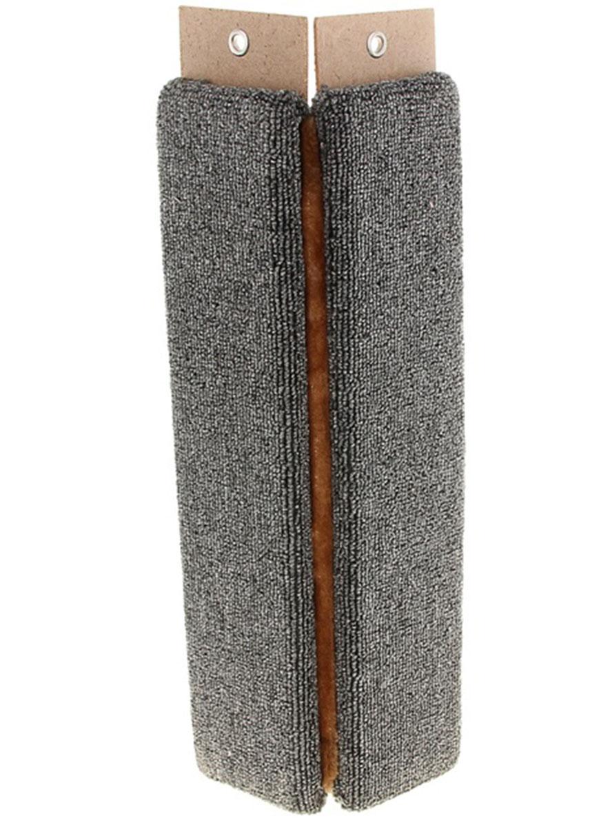 Когтеточка Меридиан, настенная, угловая, цвет: коричневый, светло-коричневый, черный, длина 55 см0120710Угловая когтеточка Меридиан предназначена для стачивания когтей вашей кошки и предотвращения их врастания. Волокна ковролина обеспечивают естественный уход за когтями питомца. Когтеточка позволяет сохранить неповрежденными мебель и другие предметы интерьера. Изделие крепится на смежных поверхностях стен и пола.Длина когтеточки: 55 см.Длина рабочей части: 52 см.Ширина: 11,5 см.