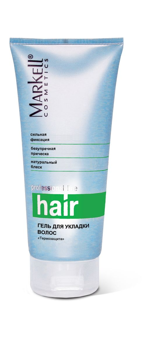 Markell Гель для укладки волос Professional Hair Line ТЕРМОЗАЩИТА, 200 мл1455785/133684Обеспечивает безукоризненную форму прическе, не утяжеляет волосы, полностью удаляется расческой. Поможет создать прическу на волосах любой длины. Особый комплекс активных компонентов обеспечит дополнительный уход за волосами.