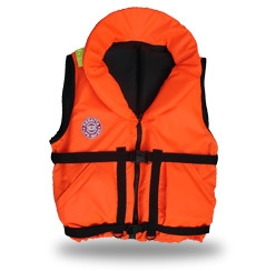Жилет спасательный Плавсервис Hunter, цвет: оранжевый. Размер 58-64, вес до 120 кгVPR-100Предназначен для людей ведущих активный образ жизни на воде, рыбаков и охотников. Комплектуется свистком и светоотражающими лентами. Есть отдельный карман для хранения паховой стропы, новые, увеличенные в объеме, наружные скошенные карманы на липучках. Низ жилета стал более собран для придания ему лучшей формы. В комплект жилета входят регулировочные ремни, светоотражающие полосы, карманы, молния, свисток, паховая стропа, воротник. Это самая бюджетная модель наших размерных жилетов, но функционально Hunter не подведет своего владельца при попадании в воду. В воде, с помощью элементов плавучести, Hunter перевернет владельца в положение лицом вверх и удержит под углом к горизонту так, чтобы обеспечить безопасное положение головы над водой. Размер жилетов указан в названии и зависит от массы тела (например, Хантер 60) и подойдет подросткам и взрослым, вес которых находится в пределах от 60 до 140 кг. Цвет жилета – ярко-оранжевый. 01 Подголовник. Обязательное условие сертифицированного спасательного жилета. Ткань Оxford 230D PU1000, внутри которой находятся несколько многослойных сегментов из вспененного полиэтилена. Высокий подголовник такой конструкции хорошо держит голову владельца на плаву и в тоже время обладает достаточной гибкостью для складывания жилета при транспортировке. 02 Элементы плавучести, состоящие из набора НПЭ пластин толщиной 8мм каждая. Пластины на груди вшиты между основной и подкладочной тканью и обеспечивают на воде стабильное положение на воде владельца лицом вверх. 03 Лямка выполнена из ременной ленты плотностью от 16 г/м2 и является стягивающим элементом. В зависимости от размера спасательного жилета ее длина изменяется. Фиксируется фастексами с достаточным запасом прочности или посредством сдвоенных стальных полуколец.