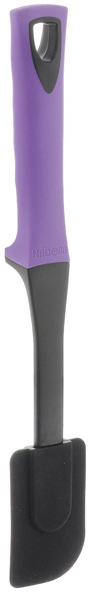 Лопатка кулинарная Nadoba Flava, силиконовая, длина 31,5 см721622Кулинарная лопатка Nadoba Flava - это замечательный инструмент, который поможет при готовке на кухне. Изделие выполнено из высококачественного термостойкого нейлона, который выдерживает температуру до +210°С. Рабочая поверхность предмета имеет вставку из силикона. Изделие безопасно для посуды с антипригарным покрытием. Эргономичная прорезиненная рукоятка обеспечивает надежный хват.Лопатка удобна и тем, что она не прикасается рабочей поверхностью к столу, следовательно, ваша кухня будет чище. Лопатка Nadoba Flava станет отличным дополнением к коллекции ваших кухонных аксессуаров. Можно мыть в посудомоечной машине.Длина лопатки: 31,5 см.Размер рабочей поверхности: 5 х 8 см.