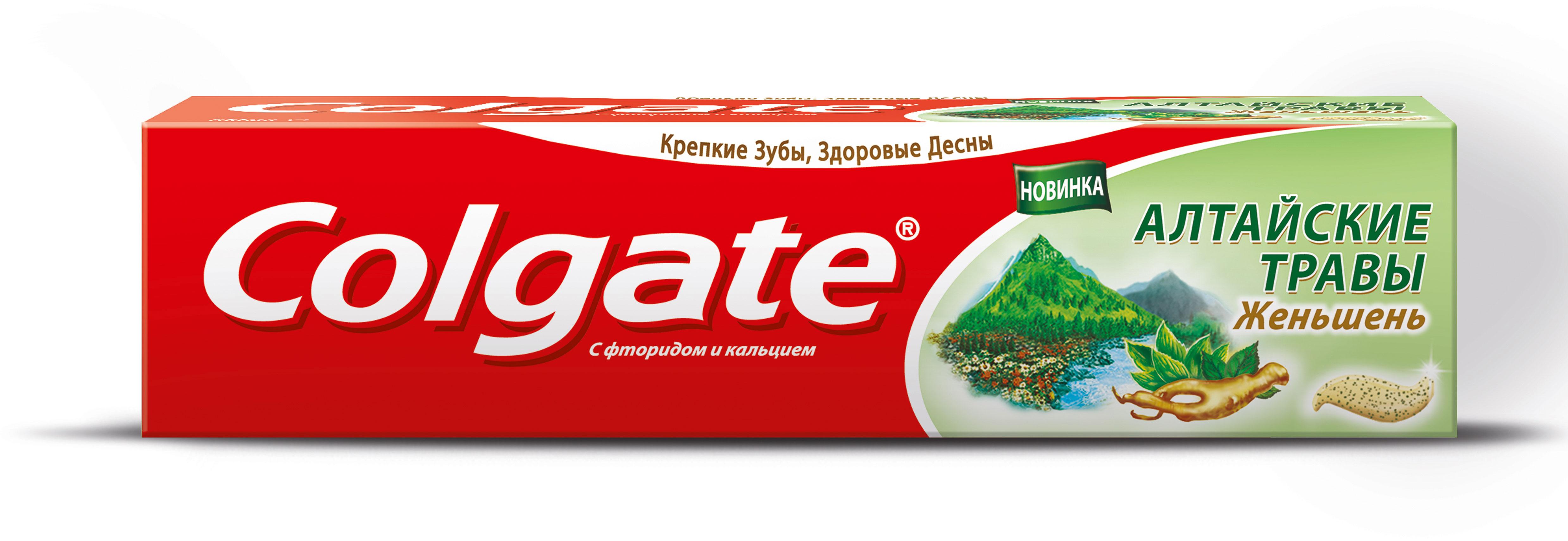 Colgate Зубная паста Алтайские Травы Женьшень 100 мл