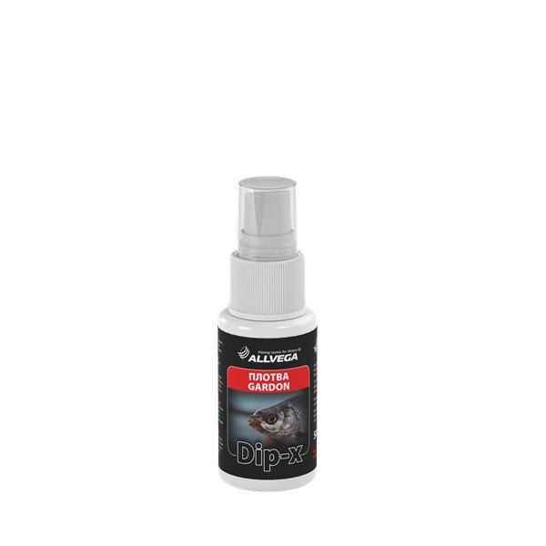 Ароматизатор-спрей Allvega Dip-X Gardon, 50 мл52620Высококонцентрированный ароматизатор-спрей Allvega Dip-X Gardon предназначен для быстрой ароматизации различных наживок и приманок, в том числе искусственных. Отлично подойдет для плотвы.Товар сертифицирован.