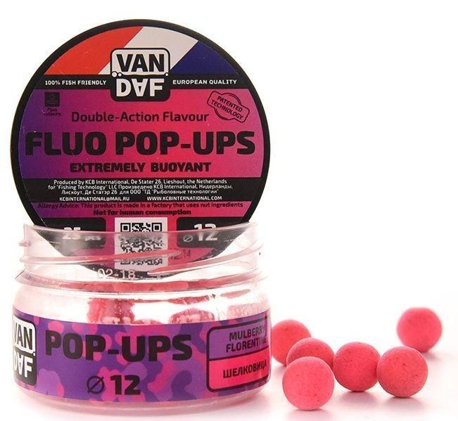 Поп-апы VAN DAF Шелковица, цвет: розовый, диаметр 12 мм, 25 шт57304Поп-апы VAN DAF Шелковица - это невероятно привлекательная насадка с потрясающей видимостью даже в воде с минимальной прозрачностью. Сохраняет положительную плавучесть несколько часов. Поп-апы созданы для традиционной карповой ловли, а в сочетании с жидкими аттрактантами VAN DAF являются отменной насадкой для ловли на FLAT FEEDER (флэт фидер). Поп-апы имеют уникальную мягкую губчатую структуру, отлично впитывающую стимуляторы аппетита и мгновенно отдающую запах в воде.Вы можете без проблем проткнуть их иглой или привязать к волосу. Мягкий и податливый материал легко режется. С помощью ножа или ножниц вы сможете придать любой размер или форму вашей насадке.Каждый POP-UP пропитан ароматизатором с привлекательным для карпа запахом. Яркий флуоресцентный цвет делает насадку на волосе хорошо заметной, а расходящийся от нее запах выделяет ее на дне и провоцирует рыбу на поклевку.Измельчив и добавив их в спод-микс совместно с пеллетсом, зерновыми миксами, резаными бойлами, можно придать смеси активность с помощью всплывающих частиц.Диаметр: 12 мм.Товар сертифицирован.