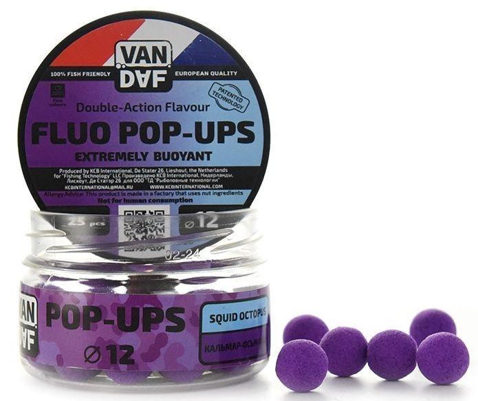 Поп-апы VAN DAF Кальмар-осьминог, цвет: фиолетовый, диаметр 12 мм, 25 штCK5-LURПоп-апы VAN DAF Кальмар-осьминог - это невероятно привлекательная насадка с потрясающей видимостью даже в воде с минимальной прозрачностью. Сохраняет положительную плавучесть несколько часов. Поп-апы созданы для традиционной карповой ловли, а в сочетании с жидкими аттрактантами VAN DAF являются отменной насадкой для ловли на FLAT FEEDER (флэт фидер). Поп-апы имеют уникальную мягкую губчатую структуру, отлично впитывающую стимуляторы аппетита и мгновенно отдающую запах в воде.Вы можете без проблем проткнуть их иглой или привязать к волосу. Мягкий и податливый материал легко режется. С помощью ножа или ножниц вы сможете придать любой размер или форму вашей насадке.Каждый POP-UP пропитан ароматизатором с привлекательным для карпа запахом. Яркий флуоресцентный цвет делает насадку на волосе хорошо заметной, а расходящийся от нее запах выделяет ее на дне и провоцирует рыбу на поклевку.Измельчив и добавив их в спод-микс совместно с пеллетсом, зерновыми миксами, резаными бойлами, можно придать смеси активность с помощью всплывающих частиц.Диаметр: 12 мм.Товар сертифицирован.