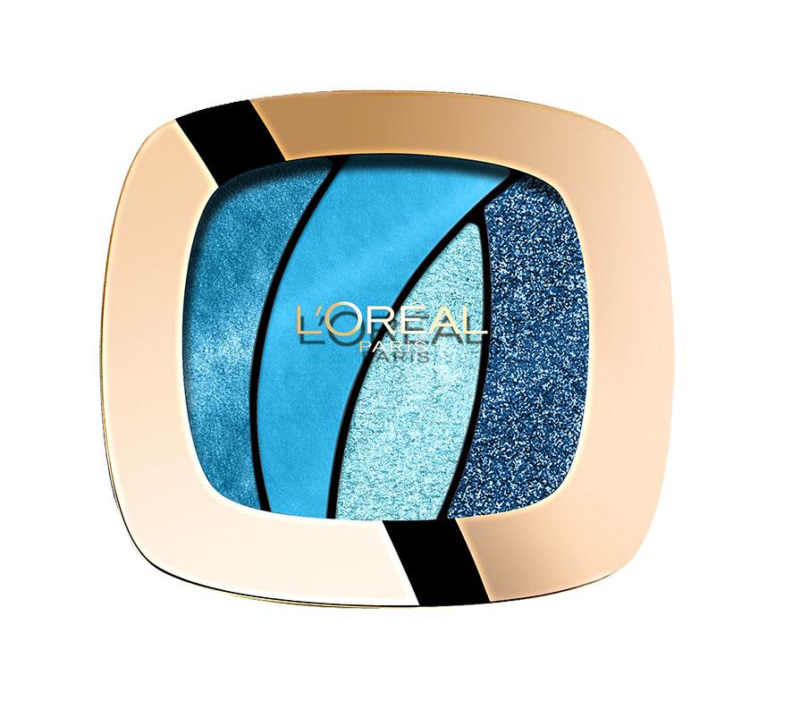 LOreal Paris Тени для век Color Riche, Квадро, оттенок S15, Бирюзовый топаз, стойкие, 4,5 г80284338Тени Квадро Color Riche - ваш персональный визажист . Модные оттенки, насыщенные цвета. Формула нового поколения: идеальная пропорция пигментов и перламутровых частиц для достижения насыщенного и яркого цвета. Инновационный двусторонний аппликатор для профессионального нанесения: традиционная кисточка для растушевки базовых цветов, углообразная кисточка для создания эффекта подводки. Нежная кремовая текстура. Стойкость 12 часов.