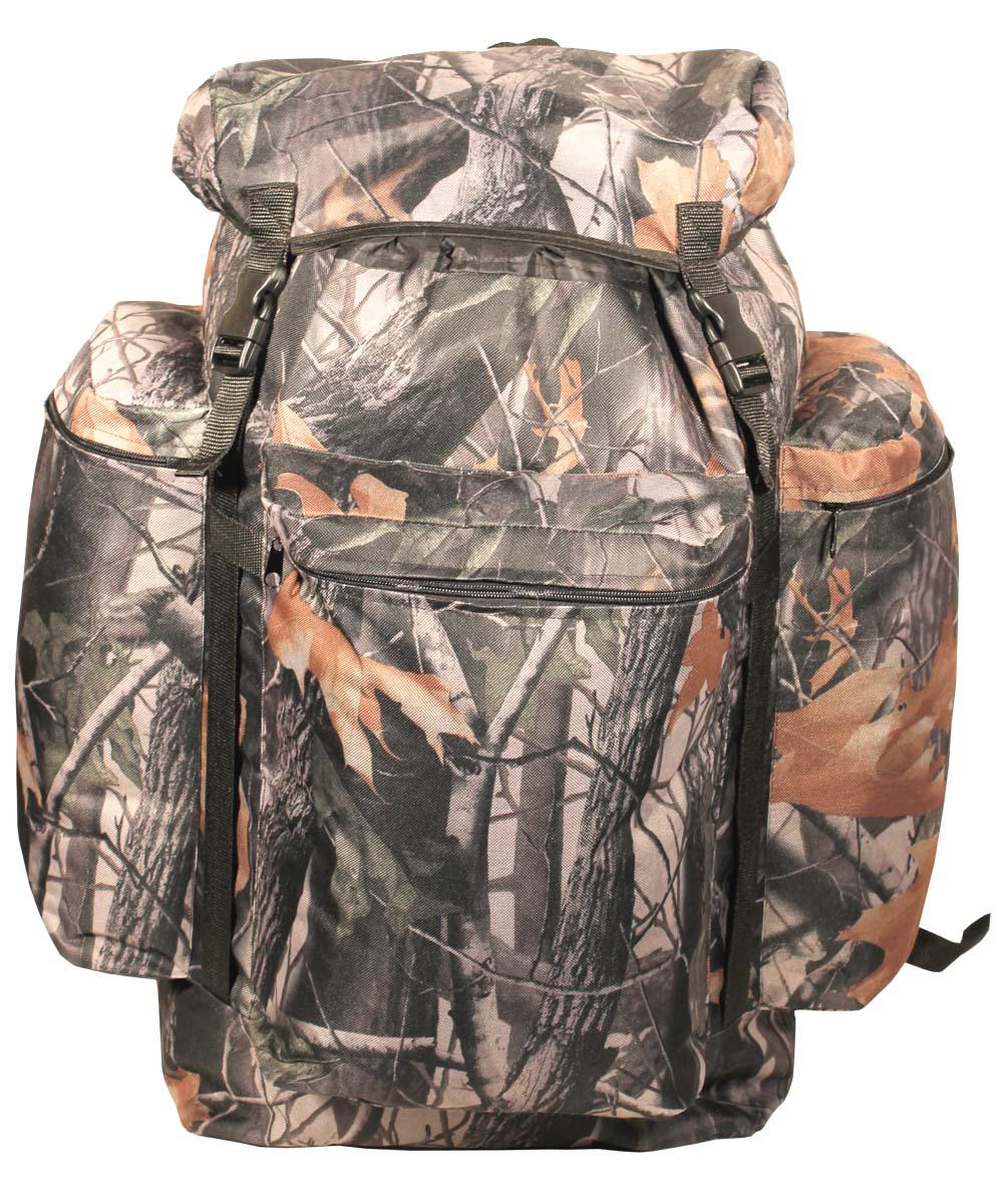 Рюкзак Taif Универсал охотник, цвет: лес, 55 л. 5726357263Простой, надежный рюкзак с верхней загрузкой для загородных прогулок на природе. Компактность рюкзака обеспечит маневренность, а отсутствие высокого верхнего клапана расширит обзор. Технические характеристики: Регулируемые лямки, Одно большое отделение для снаряжения на утяжке с верхним клапаном, Верхний клапан с дополнительным объемом, Регулировка высоты верхнего клапана при помощи стропы и фастекса, Усилительные стропы на фронтальной части и на верхнем клапане, Три объемных кармана на молнии.