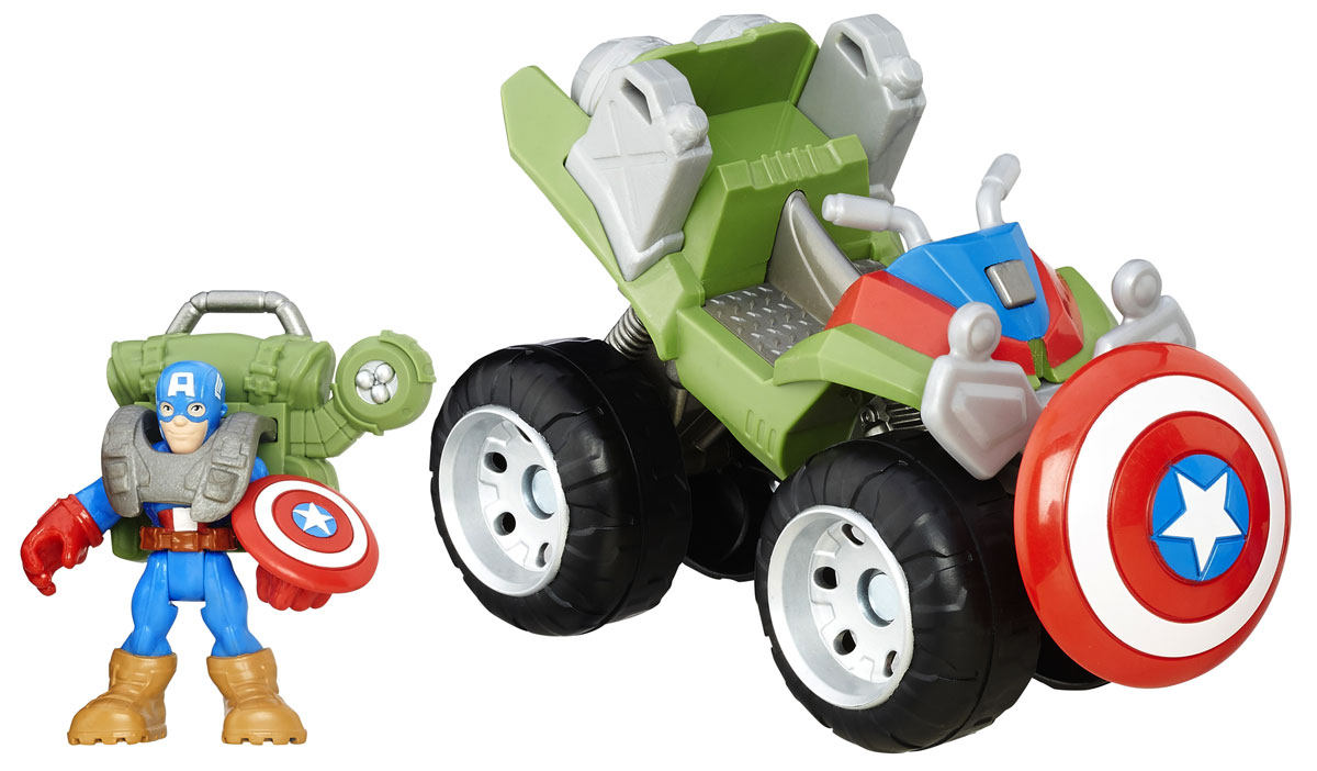 Playskool Набор фигурок 4x4 Jungle Captain America