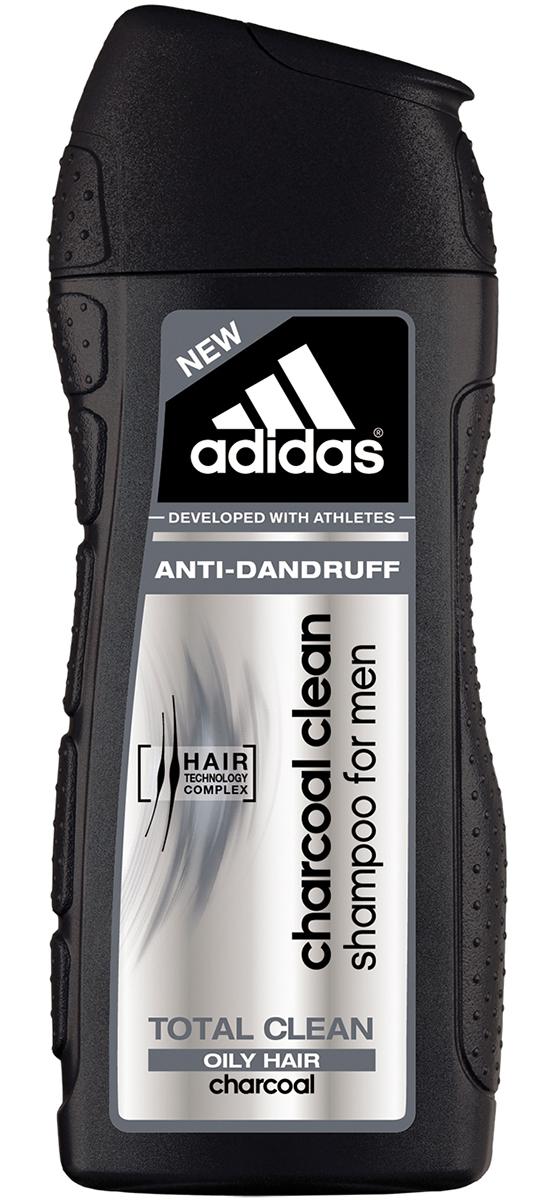 Adidas Шампунь Сharcoal Сlean Абсолютная Чистота, против перхоти, для жирных волос, мужской, 200 мл72523WDСамое глубокое очищение волос от Adidas, против перхоти и загрязнений кожи головы. HAIR TECHNOLOGY COMPLEX: катионный полимер+пантенол = увлажнение и разглаживание; бамбуковый уголь – это материал, который полезен не только для людей, но и для окружающей среды, так как он обладает сильной абсорбционной способностью. Шампунь против перхоти Adidas очищающий уголь, обогащенный гранулами бамбукового угля, легко справится с этой задачей, всего за одно применение полностью удаляет жир и грязь с волос и кожи головы.