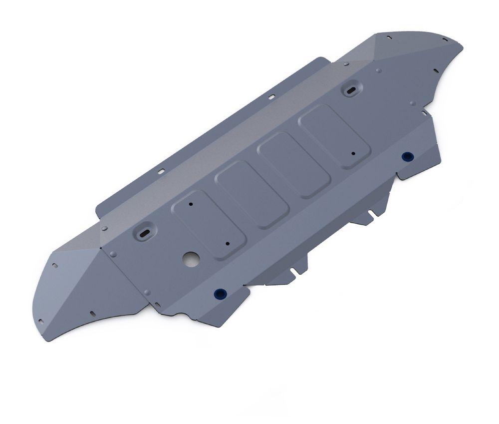 Защита радиатора и картера Rival, для AUDI Q7. 333.0329.198298123_черныйЗащита радиатора и картера для Audi Q7, V - 3,0TFSI; 3,0TFSI S-Line; 3,0TDI 2015-, крепеж в комплекте, алюминий 4 мм, Rival. Надежно защищают днище вашего автомобиля от повреждений, например при наезде на бордюры, а также выполняют эстетическую функцию при установке на высокие автомобили.- Толщина алюминиевых защит в 2 раза толще стальных, а вес при этом меньше до 30%.- Отлично отводит тепло от двигателя своей поверхностью, что спасает двигатель от перегрева в летний период или при высоких нагрузках.- В отличие от стальных, алюминиевые защиты не поддаются коррозии, что гарантирует срок службы защит более 5 лет.- Покрываются порошковой краской, что надолго сохраняет первоначальный вид новой защиты и защищает от гальванической коррозии.- Глубокий штамп дополнительно усиливает конструкцию защиты.- Подштамповка в местах крепления защищает крепеж от срезания.- Технологические отверстия там, где они необходимы для смены масла и слива воды, оборудованные заглушками, надежно закрепленными на защите.Уважаемые клиенты!Обращаем ваше внимание, на тот факт, что защита имеет форму, соответствующую модели данного автомобиля. Фото служит для визуального восприятия товара.
