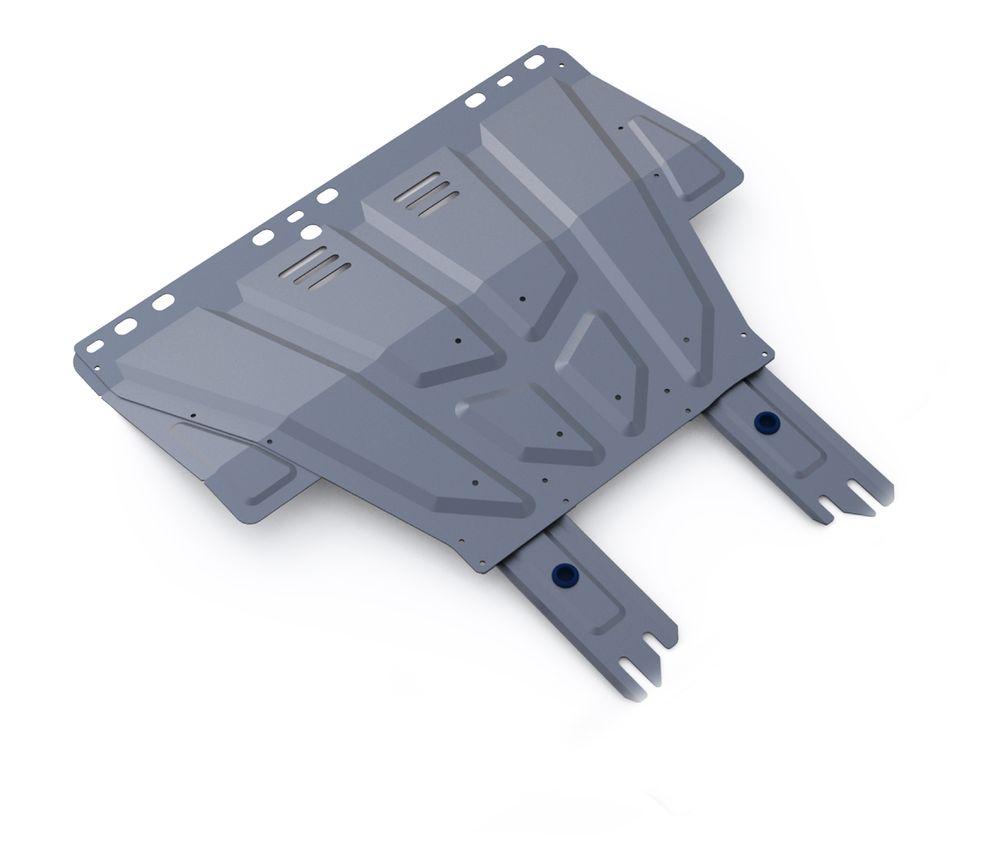 Защита картера и КПП Rival, для FORD Focus II/Focus III/Kuga I/С-Max. 333.1850.11004900000360Защита картера и КПП (универсальная) для Ford Focus II,III 2005-2011 2011-, крепеж в комплекте, алюминий 3 мм, Rival. Надежно защищают днище вашего автомобиля от повреждений, например при наезде на бордюры, а также выполняют эстетическую функцию при установке на высокие автомобили.- Толщина алюминиевых защит в 2 раза толще стальных, а вес при этом меньше до 30%.- Отлично отводит тепло от двигателя своей поверхностью, что спасает двигатель от перегрева в летний период или при высоких нагрузках.- В отличие от стальных, алюминиевые защиты не поддаются коррозии, что гарантирует срок службы защит более 5 лет.- Покрываются порошковой краской, что надолго сохраняет первоначальный вид новой защиты и защищает от гальванической коррозии.- Глубокий штамп дополнительно усиливает конструкцию защиты.- Подштамповка в местах крепления защищает крепеж от срезания.- Технологические отверстия там, где они необходимы для смены масла и слива воды, оборудованные заглушками, надежно закрепленными на защите.Уважаемые клиенты!Обращаем ваше внимание, на тот факт, что защита имеет форму, соответствующую модели данного автомобиля. Фото служит для визуального восприятия товара.