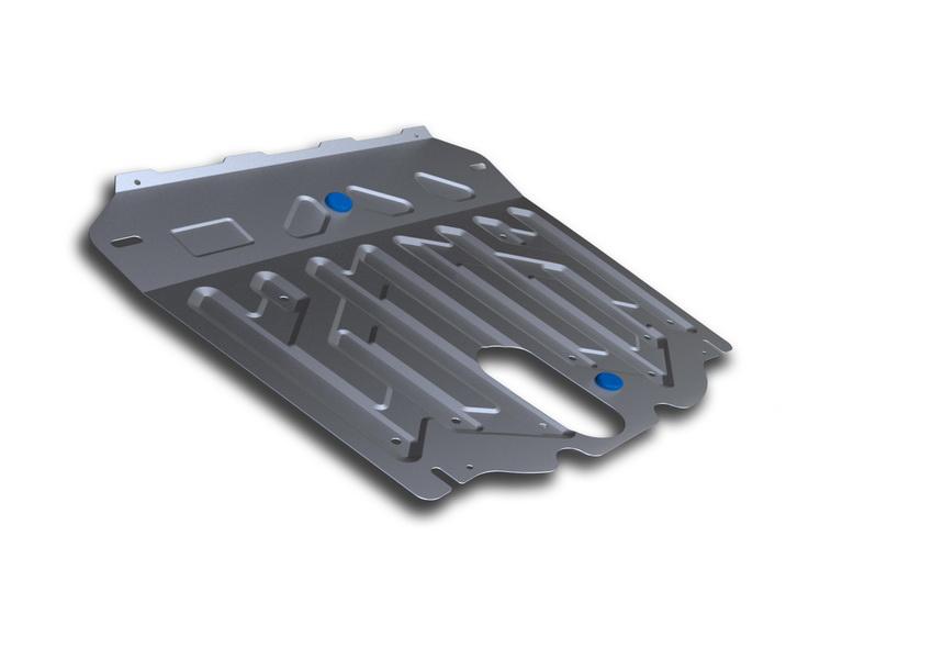 Защита картера и КПП Rival, для Hyundai Santa Fe III. 333.2341.11004900000360Защита картера и КПП для Hyundai Grand Santa Fe, V - 2,2D, 3,3i 2014-, крепеж в комплекте, алюминий 3 мм, Rival. Надежно защищают днище вашего автомобиля от повреждений, например при наезде на бордюры, а также выполняют эстетическую функцию при установке на высокие автомобили.- Толщина алюминиевых защит в 2 раза толще стальных, а вес при этом меньше до 30%.- Отлично отводит тепло от двигателя своей поверхностью, что спасает двигатель от перегрева в летний период или при высоких нагрузках.- В отличие от стальных, алюминиевые защиты не поддаются коррозии, что гарантирует срок службы защит более 5 лет.- Покрываются порошковой краской, что надолго сохраняет первоначальный вид новой защиты и защищает от гальванической коррозии.- Глубокий штамп дополнительно усиливает конструкцию защиты.- Подштамповка в местах крепления защищает крепеж от срезания.- Технологические отверстия там, где они необходимы для смены масла и слива воды, оборудованные заглушками, надежно закрепленными на защите.Уважаемые клиенты!Обращаем ваше внимание, на тот факт, что защита имеет форму, соответствующую модели данного автомобиля. Фото служит для визуального восприятия товара.