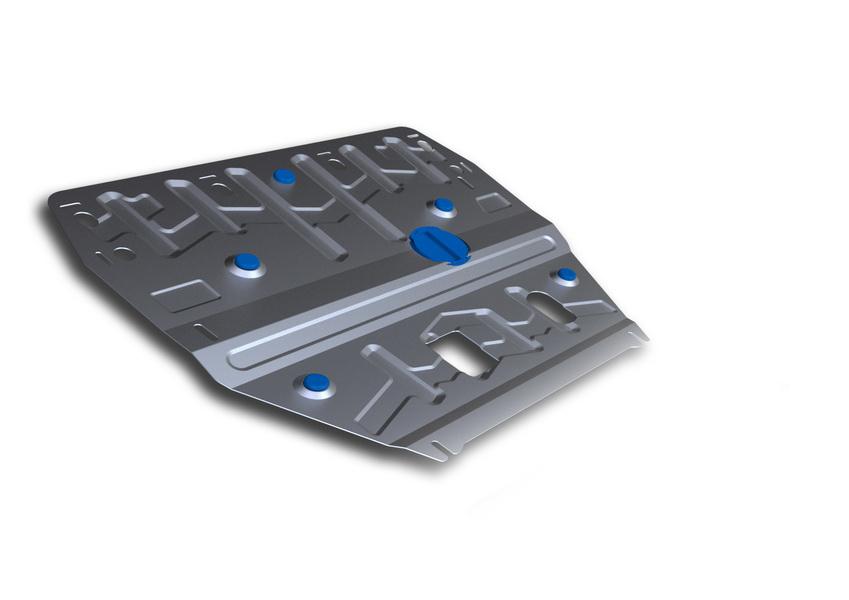 Защита картера и КПП Rival, для Hyundai i40. 333.2342.11004900000360Защита картера и КПП для Hyundai i40 , V - 2,0 2012-2015, 2015-, крепеж в комплекте, алюминий 3 мм, Rival. Надежно защищают днище вашего автомобиля от повреждений, например при наезде на бордюры, а также выполняют эстетическую функцию при установке на высокие автомобили.- Толщина алюминиевых защит в 2 раза толще стальных, а вес при этом меньше до 30%.- Отлично отводит тепло от двигателя своей поверхностью, что спасает двигатель от перегрева в летний период или при высоких нагрузках.- В отличие от стальных, алюминиевые защиты не поддаются коррозии, что гарантирует срок службы защит более 5 лет.- Покрываются порошковой краской, что надолго сохраняет первоначальный вид новой защиты и защищает от гальванической коррозии.- Глубокий штамп дополнительно усиливает конструкцию защиты.- Подштамповка в местах крепления защищает крепеж от срезания.- Технологические отверстия там, где они необходимы для смены масла и слива воды, оборудованные заглушками, надежно закрепленными на защите.Уважаемые клиенты!Обращаем ваше внимание, на тот факт, что защита имеет форму, соответствующую модели данного автомобиля. Фото служит для визуального восприятия товара.