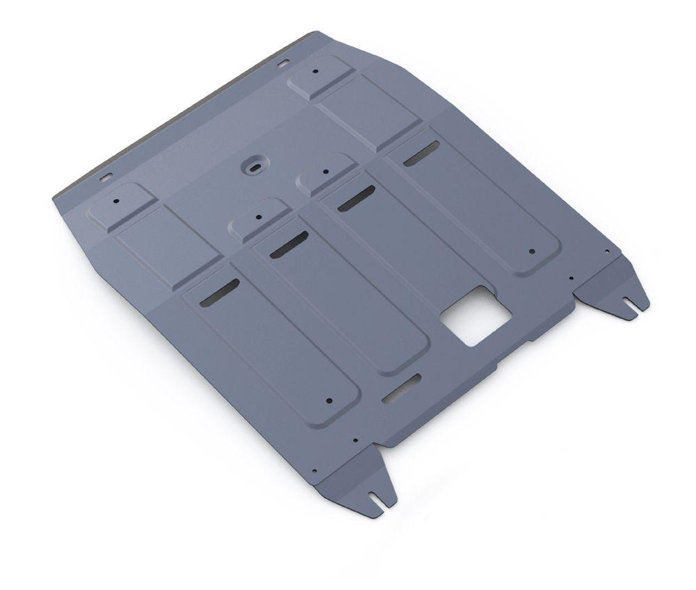 Защита картера и КПП Rival, для Hyundai Tucson III/Kia Sportage III. 333.2357.1240000Защита картера и КПП для Hyundai Tucson АКПП, V- 1,6GDi, 1,6T(177hp), 2,0MPI, 2,0CRDI 2015-, крепеж в комплекте, алюминий 4 мм, Rival. Надежно защищают днище вашего автомобиля от повреждений, например при наезде на бордюры, а также выполняют эстетическую функцию при установке на высокие автомобили.- Толщина алюминиевых защит в 2 раза толще стальных, а вес при этом меньше до 30%.- Отлично отводит тепло от двигателя своей поверхностью, что спасает двигатель от перегрева в летний период или при высоких нагрузках.- В отличие от стальных, алюминиевые защиты не поддаются коррозии, что гарантирует срок службы защит более 5 лет.- Покрываются порошковой краской, что надолго сохраняет первоначальный вид новой защиты и защищает от гальванической коррозии.- Глубокий штамп дополнительно усиливает конструкцию защиты.- Подштамповка в местах крепления защищает крепеж от срезания.- Технологические отверстия там, где они необходимы для смены масла и слива воды, оборудованные заглушками, надежно закрепленными на защите.Уважаемые клиенты!Обращаем ваше внимание, на тот факт, что защита имеет форму, соответствующую модели данного автомобиля. Фото служит для визуального восприятия товара.