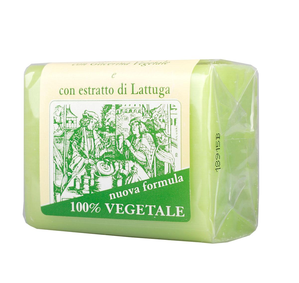 Iteritalia Мыло натуральное глицериновое с экстрактом латука, 150 гMP59.4DНатуральное косметическое глицериновое мыло коллекции МАСТЕРА МЫЛОВАРЫ изготовлено из 100% растительных ингредиентов в соответствии с античными традициями мастеров Саронно. Обогащено глицерином и экстрактом латука, обладает очищающим и смягчающим действием. Подходит для всех типов кожи.