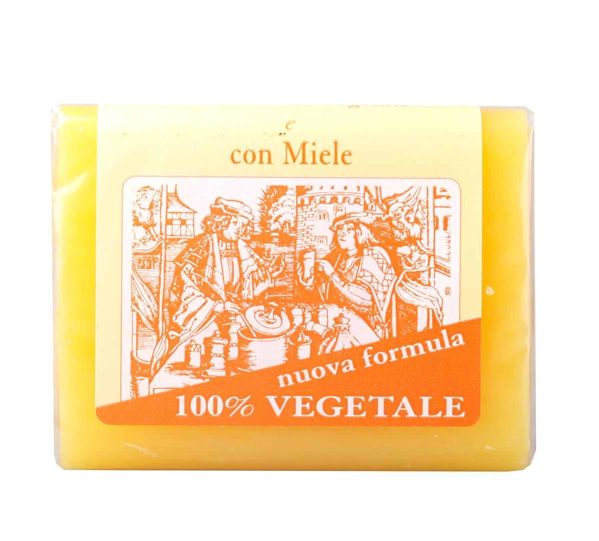 Iteritalia Мыло натуральное глицериновое с медом, 150 г5010777139655Натуральное косметическое глицериновое мыло коллекции МАСТЕРА МЫЛОВАРЫ изготовлено из 100% растительных ингредиентов в соответствии с античными традициями мастеров Саронно. Обогащено глицерином,экстрактом меда, обладает смягчающим и увлажняющим действием. Подходит для всех типов кожи, в том числе для сухой.