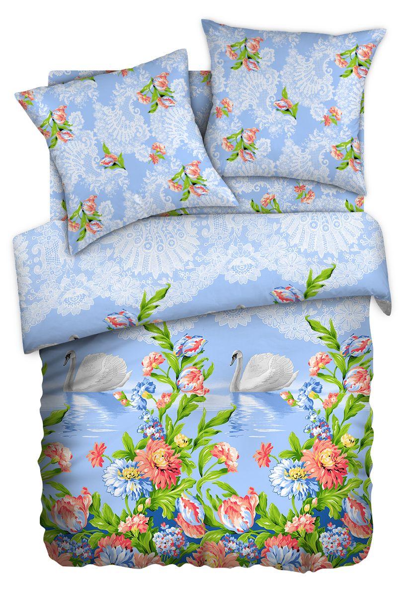 Комплект белья Любимый дом Лебеди, 2-спальный, наволочки 70x70, цвет: голубой391602Комплект постельного белья коллекции Любимый дом выполнен из высококачественной ткани - из 100% хлопка. Такое белье абсолютно натуральное, гипоаллергенное, соответствует строжайшим экологическим нормам безопасности, комфортное, дышащее, не нарушает естественные процессы терморегуляции, прочное, не линяет, не деформируется и не теряет своих красок даже после многочисленных стирок, а также отличается хорошей износостойкостью.