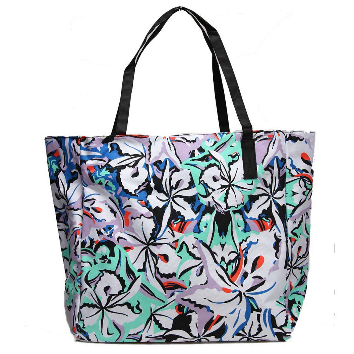 Сумка пляжная Venera, цвет: синий, белый, бирюза. 1200556-1/123008Отличная пляжная сумка станет чудесным аксессуаром этого сезона, а стильный дизайн и средние размеры позволят Вам вместить все нужные вещи.