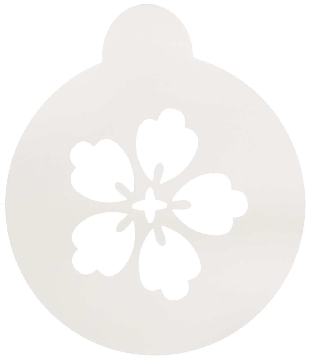 Трафарет на кофе и десерты Леденцовая фабрика Цветочек-пятилистник, диаметр 10 см трафарет на кофе и десерты леденцовая фабрика кошка с рыбой диаметр 10 см