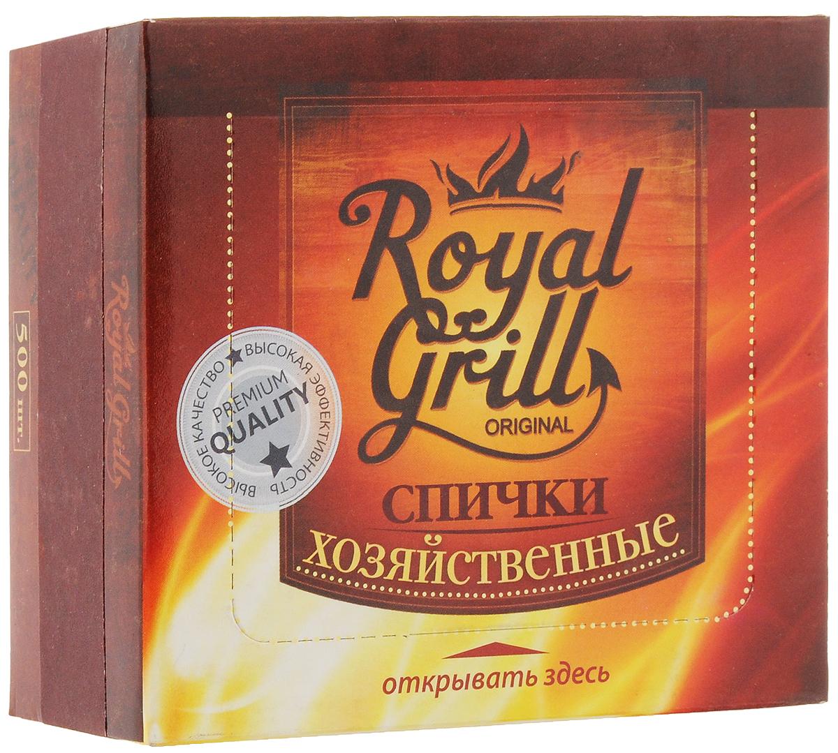 Спички RoyalGrill Хозяйственные, 500 штKOC-H19-LEDСпички RoyalGrill Хозяйственные предназначены для разведения огня. Отлично загораются, их удобно держать в руке с минимальным риском ожогов.Состав: древесина, зажигательный состав.