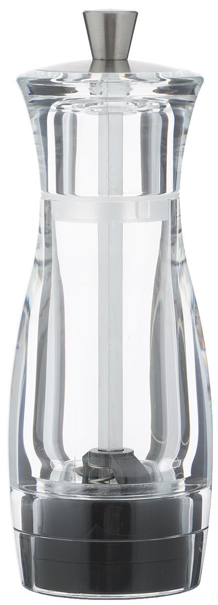 Мельница для перца Tescoma Virgo, высота 14 смВетерок 2ГФМельница для перца Tescoma Virgo - отличное приспособление для приготовления блюд со свежемолотым перцем. Изделие имеет керамический механизм размола и регулировку степени грубости помола. Мельница выполнена из прочного пластика и нержавеющей стали. Прозрачные стенки позволяют видеть количество содержимого. Не предназначена для мытья в посудомоечной машине.