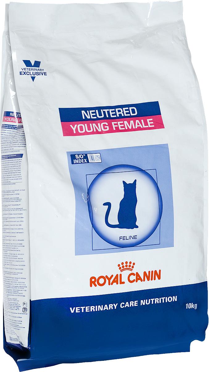 Корм сухой Royal Canin Young Female для стерилизованных кошек с момента операции до 7 лет, 10 кг0120710Royal Canin Young Female - полнорационный сухой корм для стерилизованных кошек с повышенной чувствительностью кожи и шерсти.Оптимальный вес: - обогащенная белками формула способствует лучшему поддержанию мышечного тонуса по сравнению с обычным режимом питания, повышению вкусовых качеств корма. При одном и том же уровне метаболизма белки дают на 30% меньше чистой энергии, чем углеводы. L-карнитин улучшает транспорт жирных кислот в митохондрии.Разбавление мочи:- увеличение объема мочи одновременно снижает содержание в ней минеральных веществ, из которых формируются струвитные и оксалатные кристаллы. Таким образом, создаются условия, неблагоприятные для образования камней в мочевыводящих путях.Барьерная функция кожи:- комплекс, состоящий из ниацина, инозита, холина, гистидина и пантотеновой кислоты, уменьшает потерю жидкости через кожу и усиливает ее барьерную функцию. S/O Index :Знак S/O Index на упаковке означает, что диета предназначена для создания в мочевыделительной системе среды, неблагоприятной для образования кристаллов оксалата кальция. Состав: дегидратированные белки животного происхождения (птица), кукуруза, рис, пшеничная клейковина, кукурузная клейковина, гидролизат, белков животного происхождения, растительная клетчатка, свекольный жом, минеральные вещества, рыбий жир, соевое масло, фруктоолигосахариды, экстракт бархатцев прямостоячих (источник лютеина). Добавки (в 1 кг): витамин A - 20500 ME, витамин D3 - 700 ME, железо - 46 мг, йод - 4,6 мг, марганец - 60 мг, цинк - 179 мг, сeлeн - 0,08 мг.Содержание питательных веществ: белки - 37%, жиры - 10%, минеральные вещества - 8,4%, клетчатка пищевая - 4,3%, медь - 15 мг/кг. Товар сертифицирован.