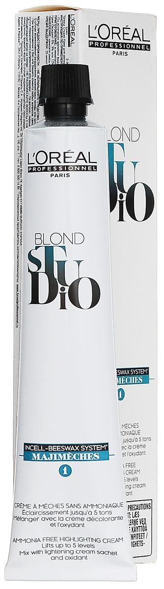LOreal Professionnel Крем для мелирования Majimeches, 50 млE0800201Oreal Professionnel Majimeches Крем для мелирования не содержит аммиак и оказывает щадящее воздействие на структуру волос. Надежно защищает волосы в процессе осветления, сохраняя их природный блеск и силу. Облегчает расчесывание и обеспечивает комфорт во время использования за счет полного отсутствия неприятного запаха. Осветляет до пяти тонов, в зависимости от выбранного процента оксиданта. Инновационная система трех Олеосфер гарантирует защиту и питание структуры волос в процессе их осветления и предупреждает возникновение эффекта пересушености волос.В результате использования крема для мелирования Мажимеш - волосы приобретают потрясающий эстетический вид.