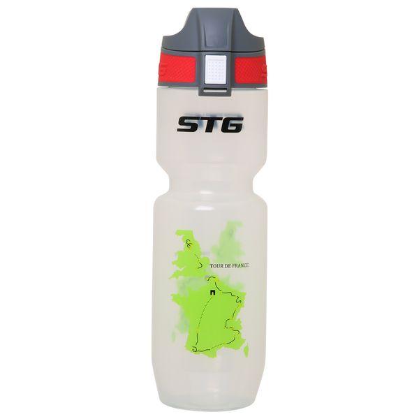 Велофляга STG Tour de France. ED-BT21, 750 мл, цвет: белый прозрачный. Х61861MW-1462-01-SR серебристыйВелофляга STG 750мл Tour de France TRANSPARENT, ED-BT21