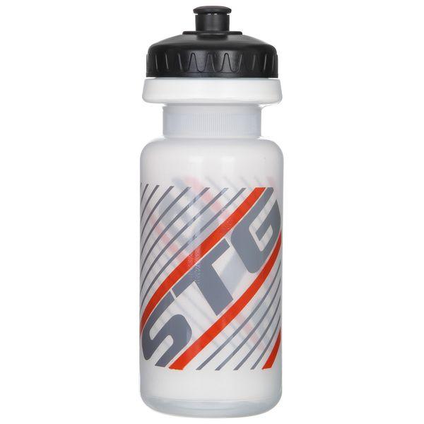 Велофляга STG, без крышки, 600 мл, цвет: белый. Х61865-5MW-1462-01-SR серебристыйВелофляга STG 600мл без крышки