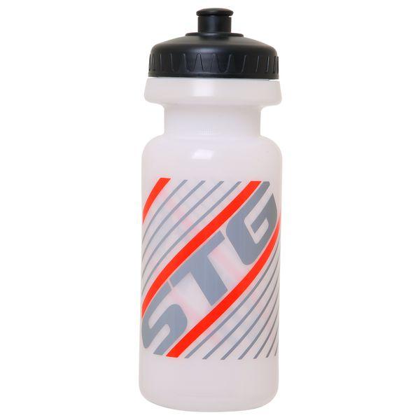 Велофляга STG, без крышки, 600 мл, цвет: белый. Х61865MW-1462-01-SR серебристыйВелофляга STG 600мл без крышки