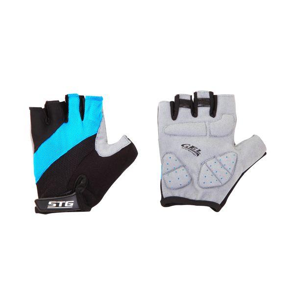 Перчатки велосипедные STG летние, цвет: голубой, черный, серый. Размер XL. Х66457RivaCase 8460 blackПерчатки летние быстросъемные из кожи и лайкры на липучке и с защитной гелевой прокладкой. Велосипедные перчатки STG обеспечат комфорт во время катания, гарантируя надежный хват за руль велосипеда, и обезопасят руки от ссадин при внезапном падении. Поставляются в индивидуальной упаковке. Для подбора перчаток необходимо измерить ширину ладони. Измерить ее можно линейкой или сантиметром по середине ладони от указательного пальца до мизинца. Размер XL - 10,5 см.