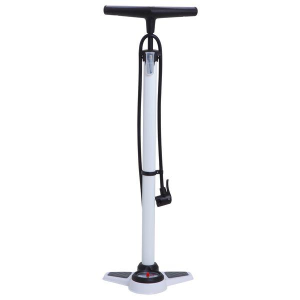 Насос напольный велосипедный Bee, высокого давления, с манометром и адаптером, цвет: белыйХ66538Напольный насос Bee высокого давления поможет накачать любую велосипедную шину. Точный встроенный манометр отображает давление в шине. Прочный корпус обеспечивает насосу долгий срок эксплуатации.Насос оснащен адаптером Presta-Schrader.